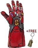 Red Iron Man Infinity Gauntlet with Free Bonus Infinity Gauntlet Keychain | Avengers Endgame Costume Ironman, Hulk, Thanos