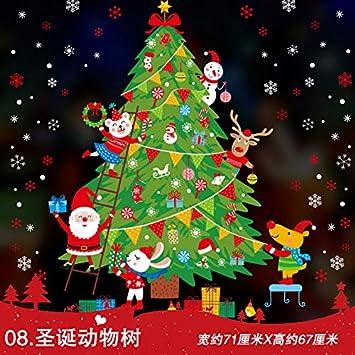 Decoración De Navidad Syn Año Nuevo Festival De Primavera Pegatina Puerta Pega Jardín De Infantes Diseño Proporciona Santa Claus Pegatina 71X67Cm 8: Amazon.es: Bricolaje y herramientas