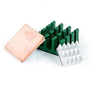 Aukru Set de 3 Disipador de calor heatsinks (aluminio & Cobre) para Raspberry Pi 3 Model B/ Pi 2 Model B
