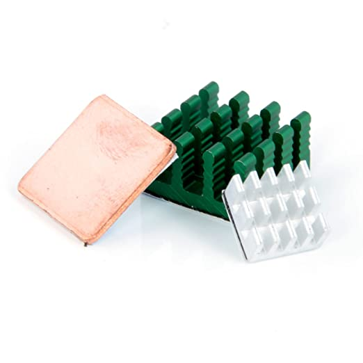 18 opinioni per Aukru- Set 3 dissipatore di calore Alluminio e Rame heatsink per Raspberry Pi 3
