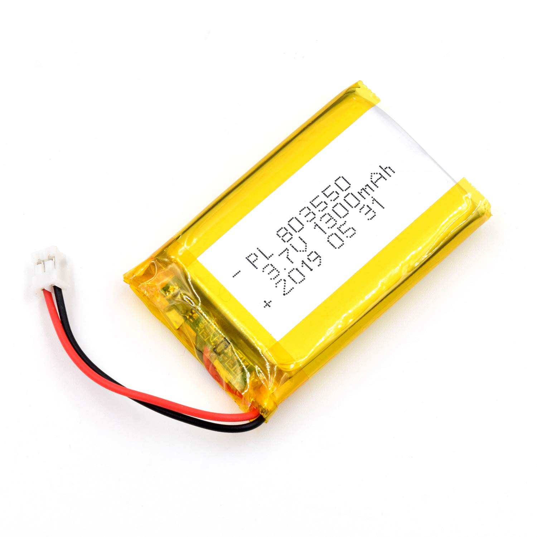 Bateria Lipo 3.7V 1300mAh 803550 Recargable JST Conector