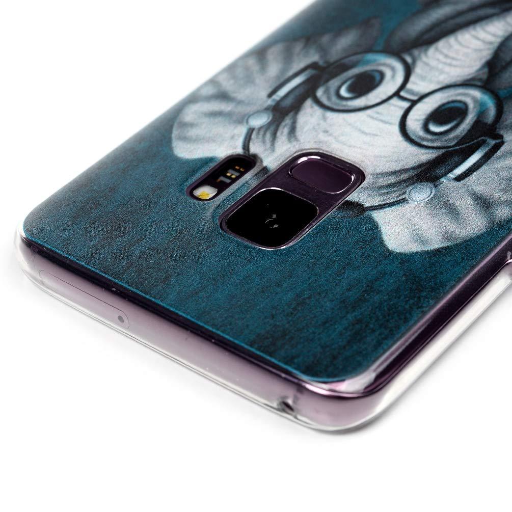 Silicone Housse Protection Bumper Antichoc Gel Souple TPU Case Cover Coque Transparente en TPU /à Motif Peint pour Samsung Galaxy S9 Tigre Blanc GuardGal Coque pour Samsung Galaxy S9