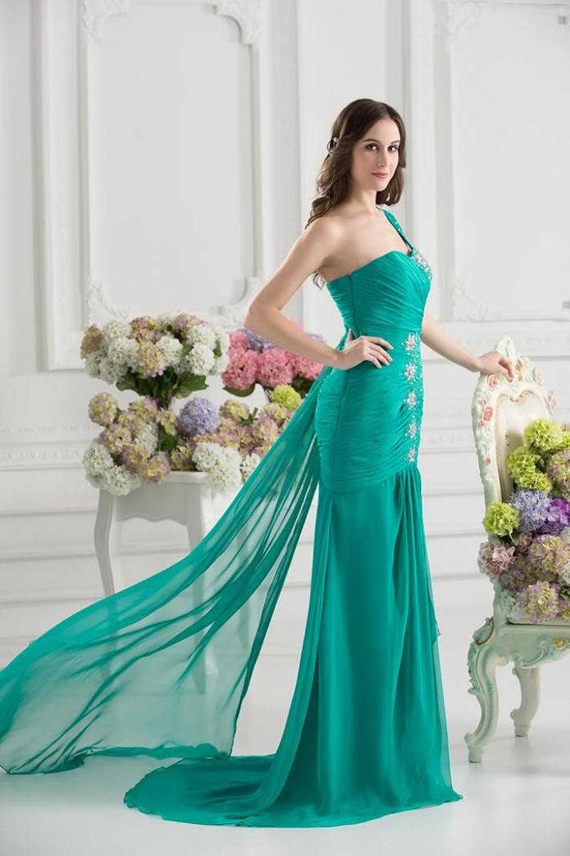 GEORGE BRIDE One-shoulder Impressive Evening Dress With Beaded Details