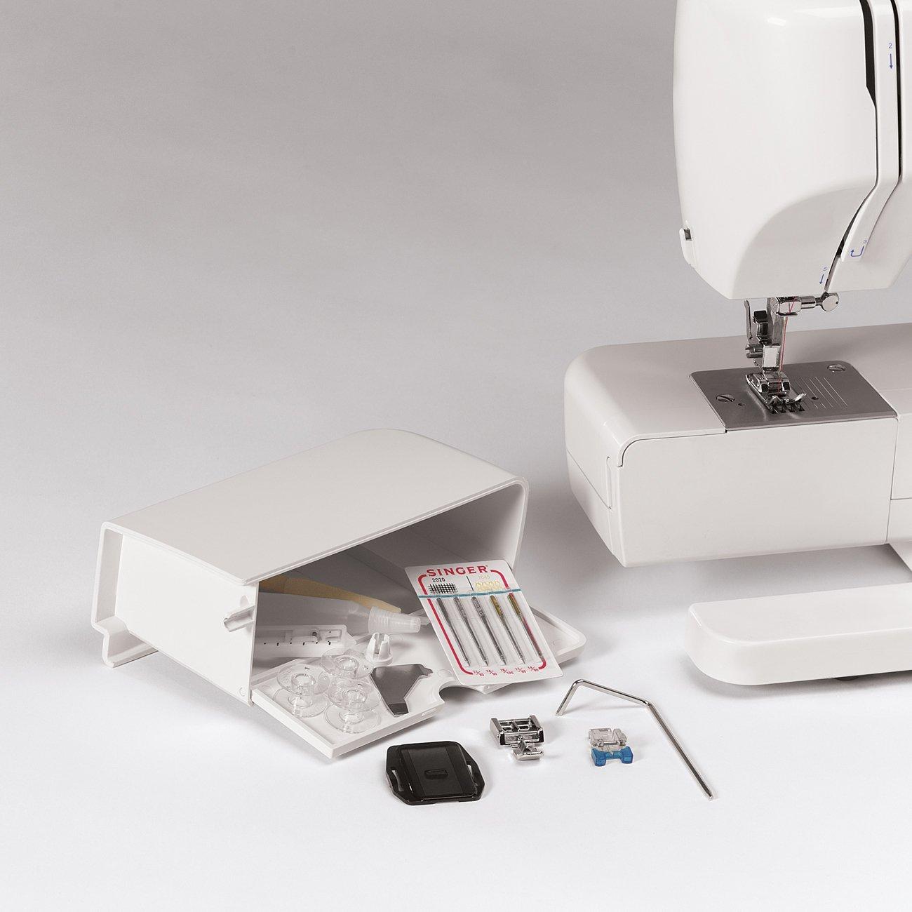 SINGER Tradition 2250 - Máquina de coser (Color blanco, Costura, Paso 4, Variable, Giratorio, Variable): Amazon.es: Hogar