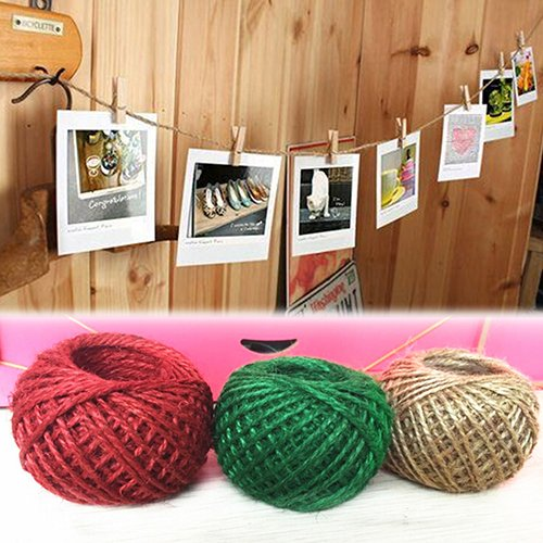 Jute Twine - 30m Style 1roll Jute String Hemp Rope Making Diy Xmas Decor Bi6e - Lighting Balls Mirror Cord Curtains Flange Pulley Theme Hook Bells Jute Black Nautical Decorative Netting Hemp Rop ()