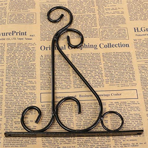 Black Wall Hanging Basket Bracket for Flower Plant Pot Metal Iron Small Hanging Basket Brackets Garden Basket Lantern Lawn Light Flower Pots