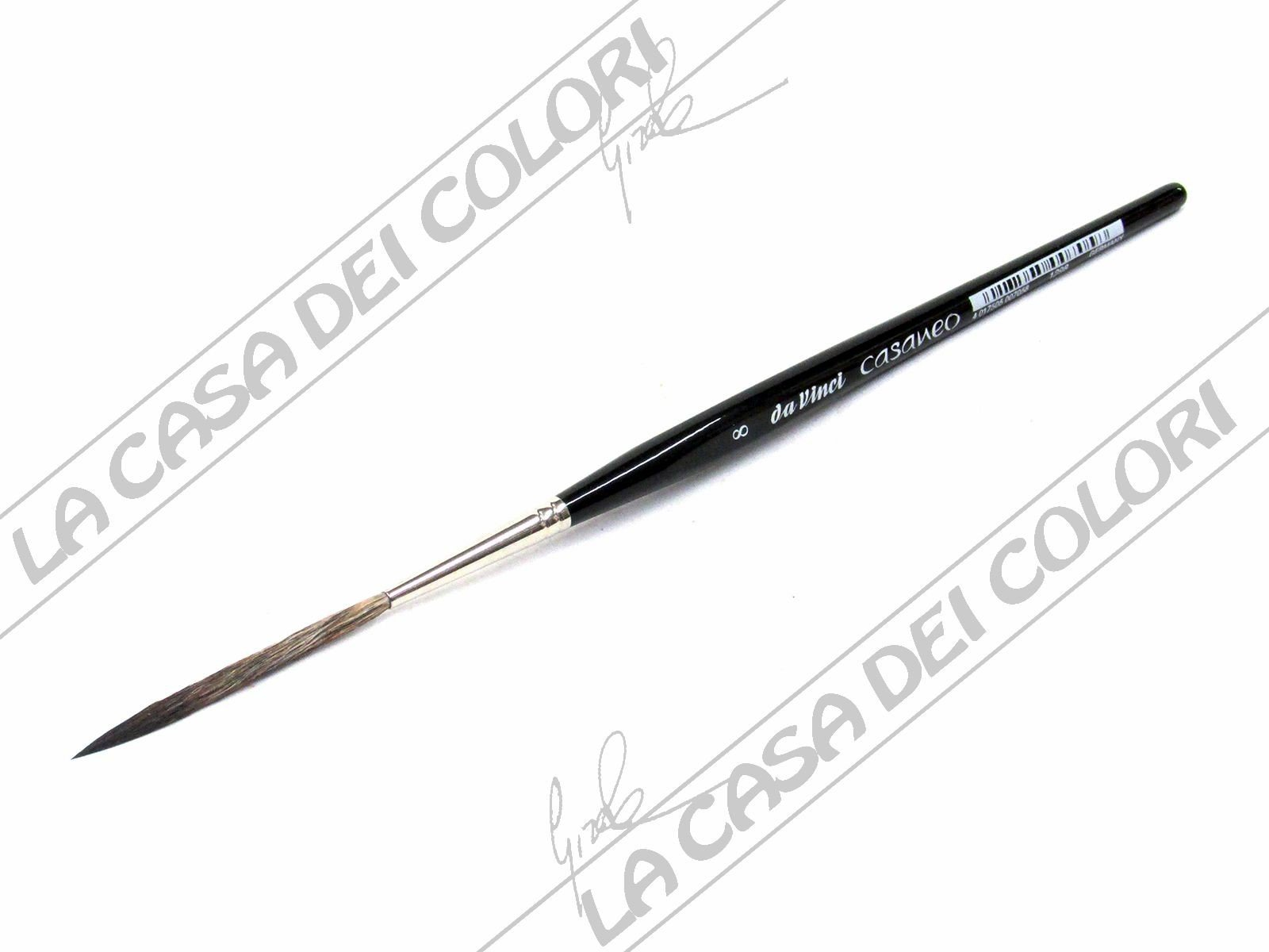 da Vinci Watercolor 1298-8 Casaneo Watercolor Brush Black