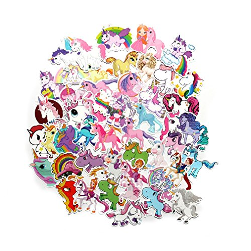 FNGEEN Cute Unicorns Laptop Stickers Pack, Car Bumper Stickers for Motorcycle Luggage Vinyl Graffiti Bomb Decals Skateboards Snowboard Cool Travel Sticker - Decals Stickers And