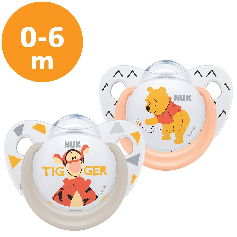 NUK Winnie The Pooh - Set de 2 chupetes Talla:0 a 6 meses