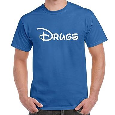 7be4240f Mens Funny Sayings Slogans Novelty T Shirts-Drugs-Disney Style Smoke Weed  tshirt-Ideal Gift Ideas: Amazon.co.uk: Clothing