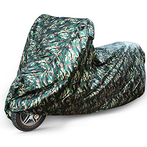 (Motorcycle Cover for Motorbike Scooter Cruiser Moped by LotFancy, Heavy Duty 210D Polyester, 96 Inch, Camouflage)