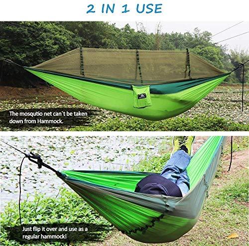 NATUREFUN Mosquitero Hamaca Ligera Viaje y Camping | 300kg de Capacidad de Carga, (275 x 140 cm) Transpirable Nylon de Paracaídas| 2 x Mosquetones ...