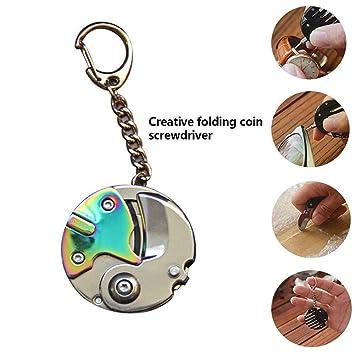 Llavero de monedas de bolsillo con múltiples funciones, mini ...