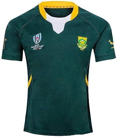 Rugby Wear - 2019 a casa y lejos Camiseta de fútbol Copa del Mundo Sudáfrica, Deportes Entrenamiento Deportivo de Manga Corta Camiseta de fútbol (Color : Green, Size : S): Amazon.es: Hogar