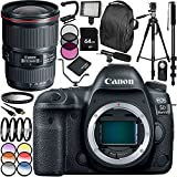 Canon EOS 5D Mark IV DSLR Camera with EF 16-35mm f/4L IS USM Lens 30PC Accessory Bundle. Includes 64GB Memory Card + MORE