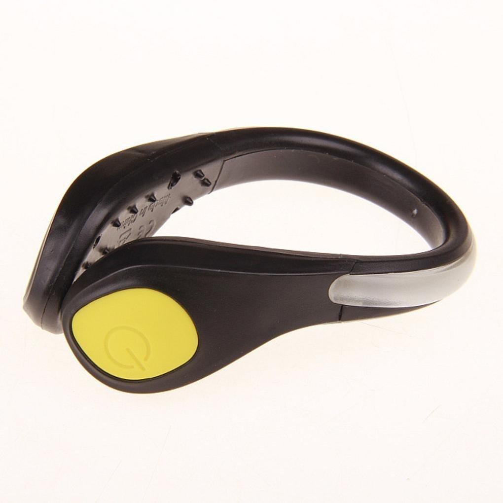 Zapatos Abrazadera Luz LED, Vovotrade Noche Advertencia de Seguridad para Corriendo Ciclismo Práctico Linterna LED luminoso Zapato Clip de Luz Brillante Flash Útil Herramienta al aire libre 7 colores (Azul)