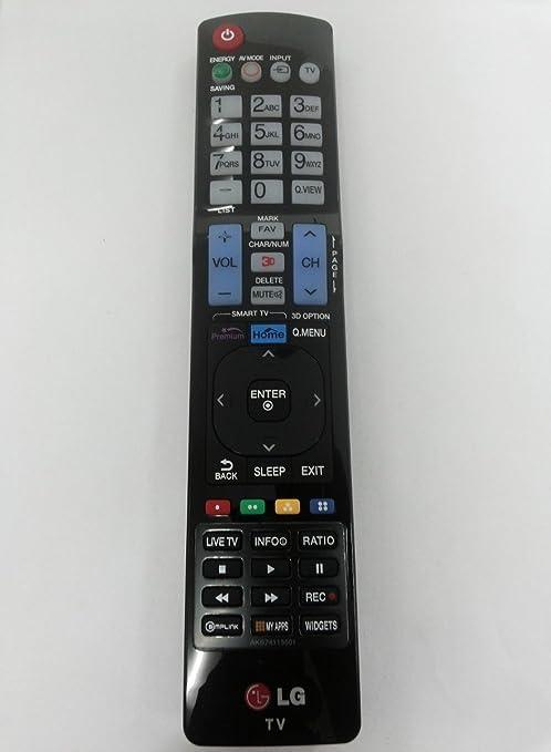 LG Mando a Distancia para televisor akb74115501=akb72914278=akb73615321=akb73615319=akb72915252. Apto 3D Smart TV (Muchos Modelos) Ver descripción para compatibilidad: Amazon.es: Electrónica