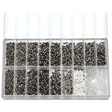 1000Pcs Micro Eyeglass Sunglass Spectacles Watch Tiny Screws Nut Assortment Repair Tool Kit Set Stainless Steel Screws