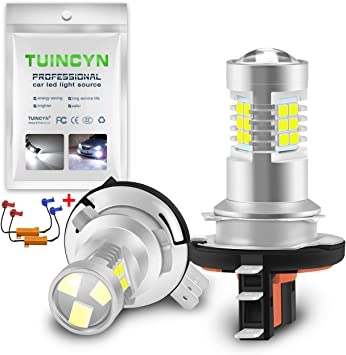 2-Pack TUINCYN H11 H8 H9 LED Fog Light Bulb DRL Lamp Replacement 2835 21SMD 6500K Extremely Bright LED Auto Driving Daytime Running Lights 10.5W DC 12V