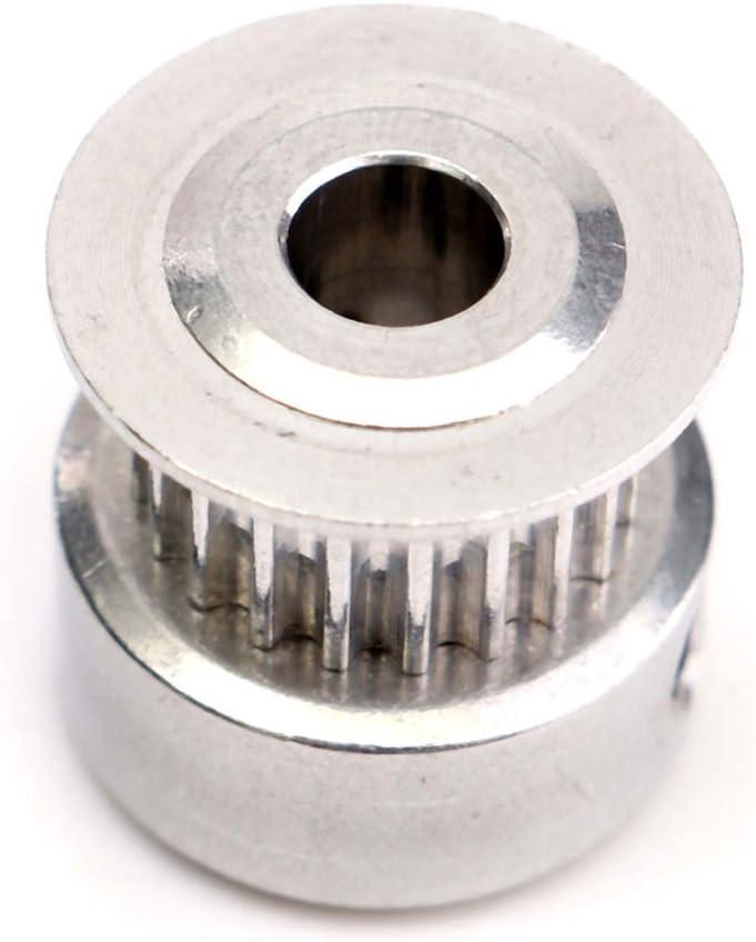 Huante Poulies CNC Argent 1 x imprimante 3D GT2 20 dents Courroies de distribution en aluminium 5 mm