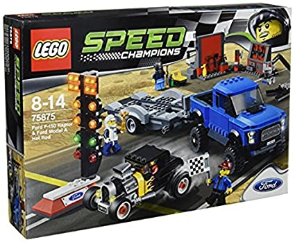 Amazon.com: Lego Speed Champions Ford F-150 Raptor & Model A Hot ...