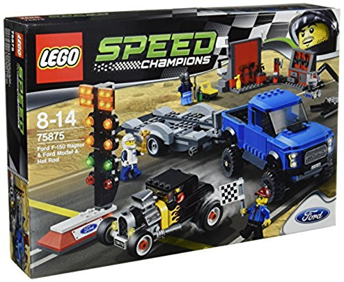 (Lego Speed Champions Ford F-150 Raptor & Model A Hot Rod (75875))