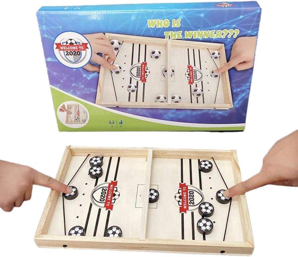 Easy-topbuy Juegos De Tablero Rápido, Juegos De Mesa Slingpuck Boardgame Juego De Mesa De Fútbol para Familiares, Niños Y Adultos