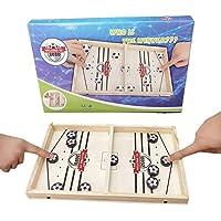 N/B Foosball Winner, Fast Sling Puck Game, Desktop Sports Board Game for Family Game Night Fun for Kids & Adults.