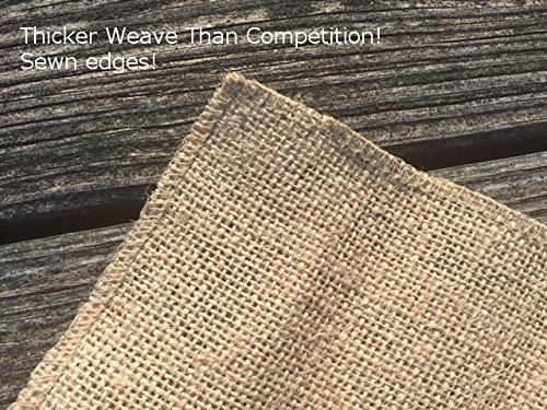Burlap table runners rustic weddings or events 102x15 for 102 inch table runners