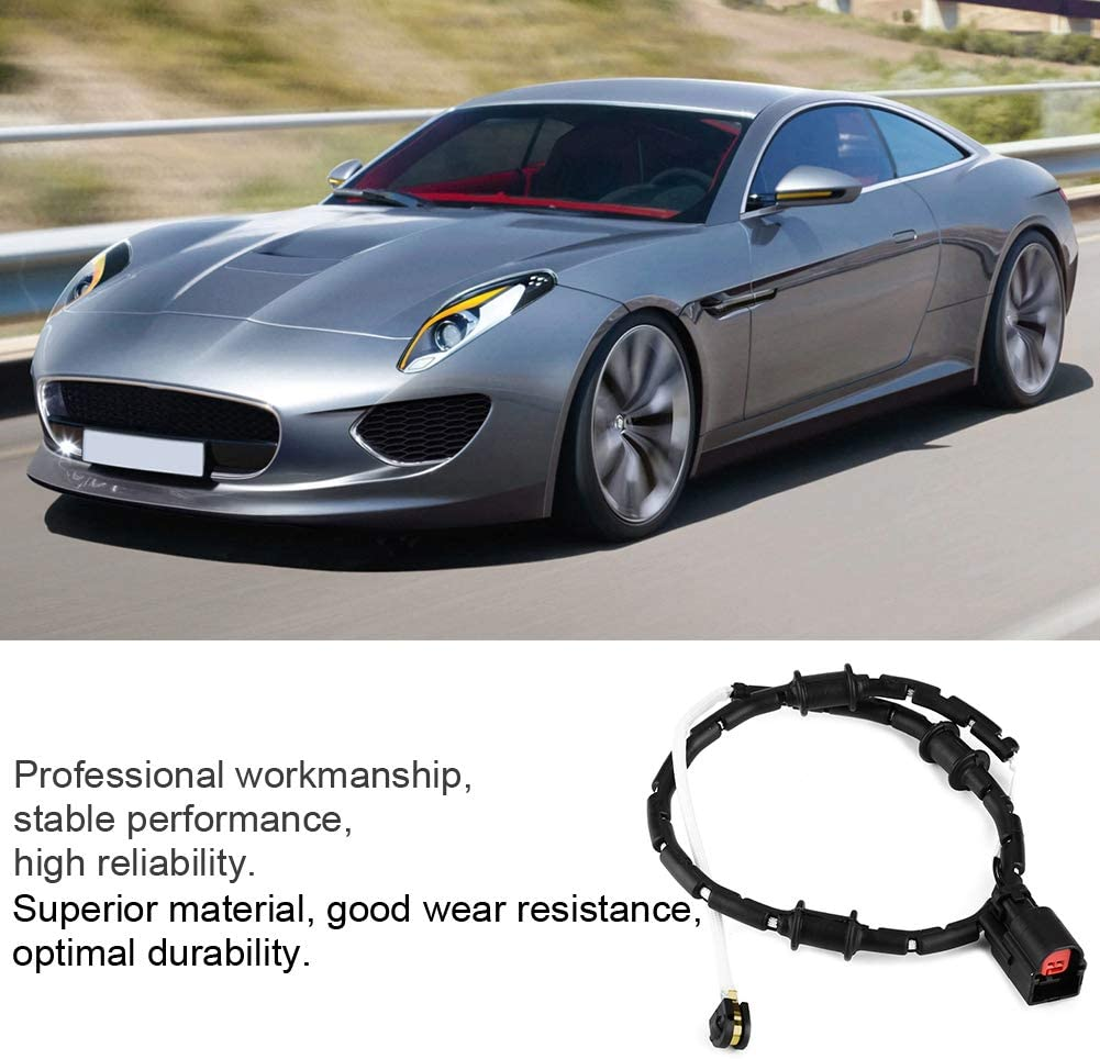Akozon Brake Sensor C2P17004 Front Brake Disc Pad Wear Sensor for Jaguar XF XJ XK F-Type 2010-2017