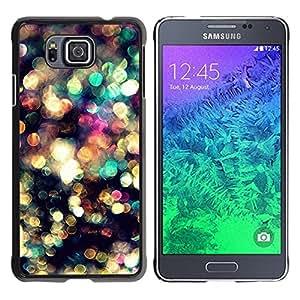YiPhone /// Prima de resorte delgada de la cubierta del caso de Shell Armor - Lights Blur Bling Reflective - Samsung GALAXY ALPHA G850