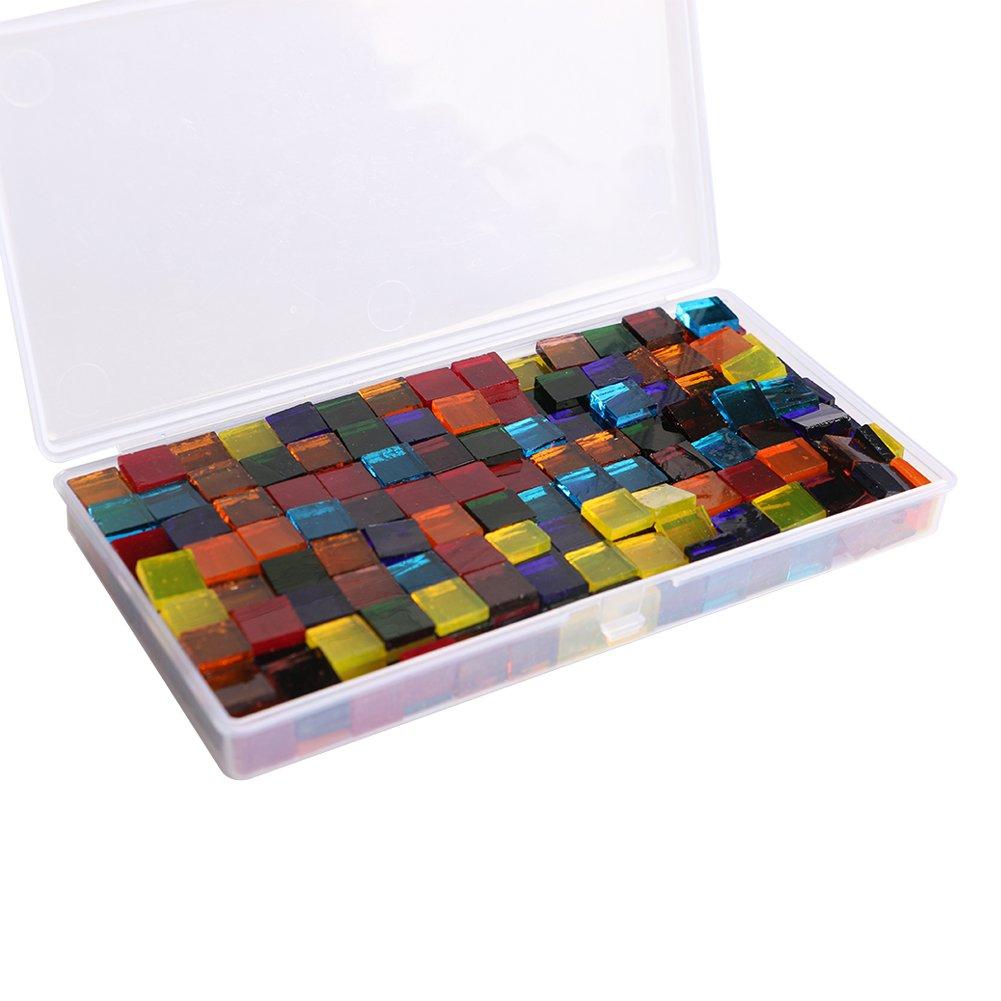 Vitasemcepli Petift 480 pezzi / pack con multi colori mosaico di vetro Artigianato decorazione domestica e bricolage artigianato Fornitura (trasparente)