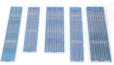 10pz elettrodi di saldatura Aghi di Tungsteno per saldatura TIG 1.0//1.6//2.4mm 1.0 * 150mm WL20 Blu Elettrodi per saldatura