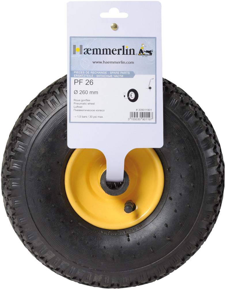 Metallfelge u /Luftrad m Format 3155030901678/ Achse 400/x 100/mm