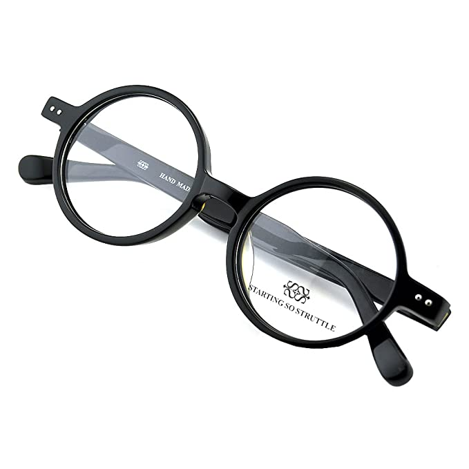 PenSee Round Black Retro Glasses Optical Prescription Eyewear ...