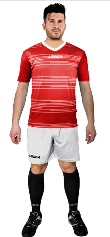 LEGEA Kit Ankara Futbolín Completo Camiseta y pantalón Deportivo Torneo, Rojo-Blanco, L: Amazon.es: Deportes y aire libre