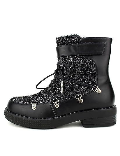 Star Chaussures Paillettes Black Femme CendriyonBoots Bello L5R4Aj