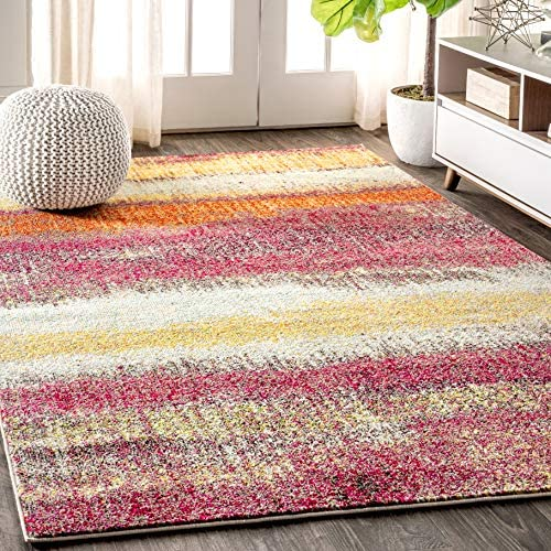 Best living room rug: JONATHAN Y Contemporary POP Modern Abstract Vintage Cream/Pink 8 ft. x 10 ft. Area-Rug