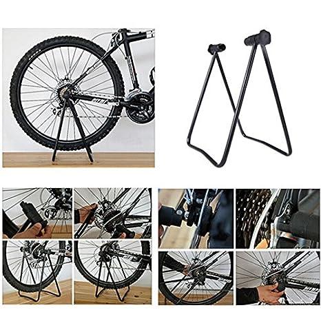 Bici Bicicleta Cubo De La Rueda De Triple Ascensor Soporte Plegable Pata De Cabra: Amazon.es: Deportes y aire libre