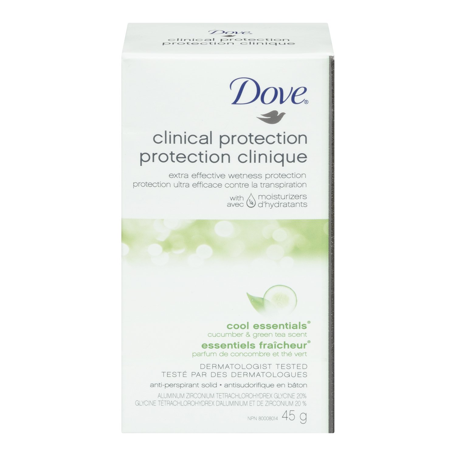 Dove Clinical Protection Cool Essentials Cucumber & Green Tea Scent Anti-Perspirant Solid 45g