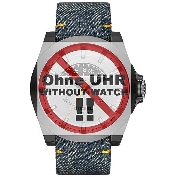14dd29a2f751 Pulsera diesel cambio de pulsera LB-DZ1689 correa de repuesto DZ 1689 correa  de piel 24 mm Azul  Amazon.es  Relojes