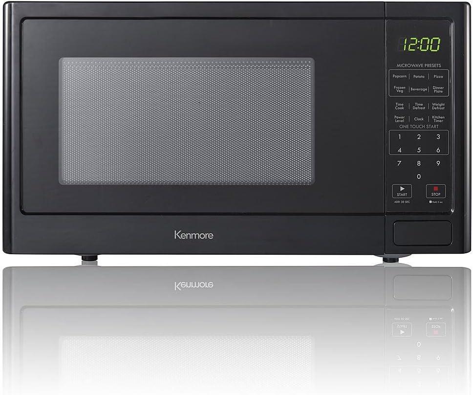 Amazon.com: Kenmore 0.9 pies cuadrados. Horno microondas ...