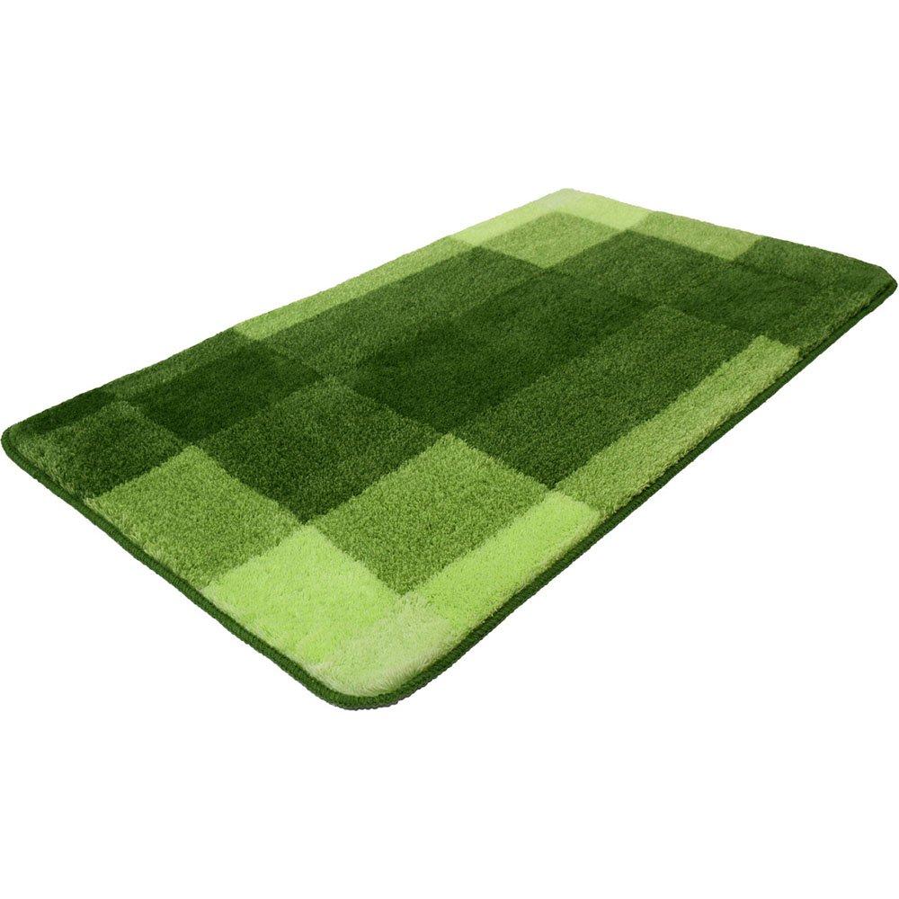 Meusch 2389615360tappetino da bagno Mix, polya rcYl, verde kiwi, 100x 60x 2cm Kleine Wolke