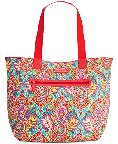 Vera Bradley Womens Paisley In Paradise Reversible Quilted Beach Bag Multi Large