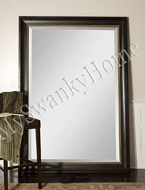 My Swanky Home Extra Large 82 Wall Mirror Dark Wood Xl Full Length Floor Leaner