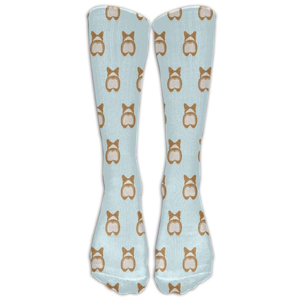 Cute Corgi Crew Socks Casual Socks Crazy Socks Compression Socks Crazy Socks High Socks For Running,Athletic,Travel,Nursing.