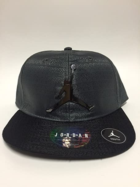 315b9b79d16 Air Jordan Jumpman 23 Adjustable Boy s Cap 8 20 Adjustable Grey Black