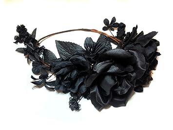 Amazon.com  Dark Gothic Black Roses Flower Crown  Beauty 10f017c09f0