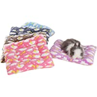 FLAdorepet Small Animal Guinea Pig Hamster Bed House Winter Warm Squirrel Hedgehog Rabbit Chinchilla Bed mat House Nest Hamster Accessories (S(7.89.8inch), Random)