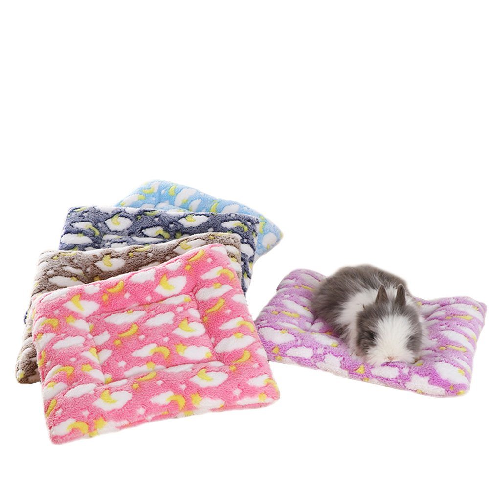 Small Animal Guinea Pig Hamster Bed House Winter Warm Squirrel Hedgehog rabbit Chinchilla Bed mat House Nest Hamster Accessories (L(11.813.7), Random)
